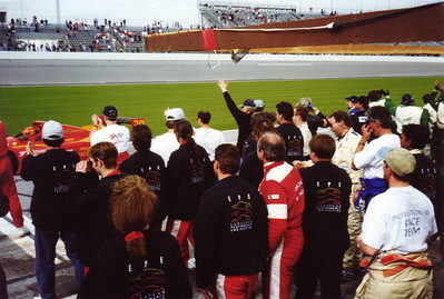 Daytona 24 Hours, 1998, Grey Cliff-EPE congratulate Gianpiero Moretti and MOMO Corse Ferrari 333sp (winners)