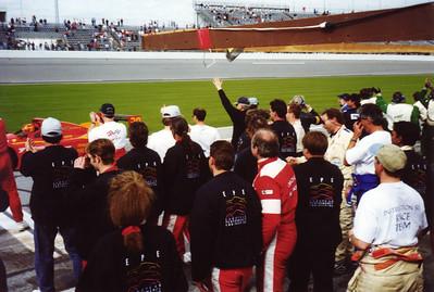 Daytona 24 Hours, 1998, Grey Cliff-EPE congratulate Gianpiero Moretti and MOMO Corse Ferrari 333sp (winners)