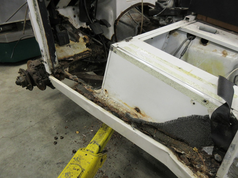 Seat box corrosion happens between the alloy seat box and the steel tool locker. This is made worse when the area is covered in carpet that gets wet. Be sure to check the seat box sides for corrosion and the battery box and tool lockers for rust.
