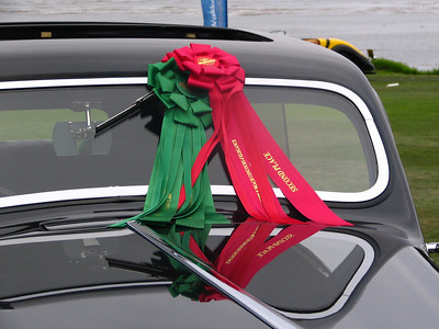 Pebble Beach Tour ribbon and second place in class ribbon.