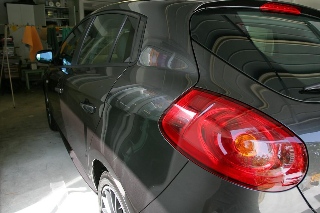 After application of Klasse Sealant Glaze - Fiat Ritmo detail, part 2 & conclusion, 13-10-2009.