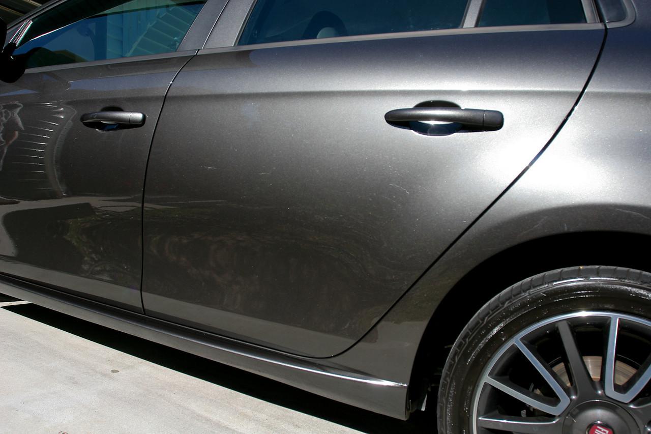 Outside/sunshine shots, after application of Klasse Sealant Glaze - Fiat Ritmo detail 8-10-2009.