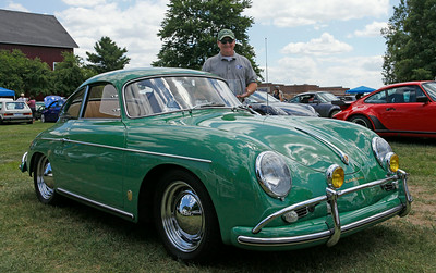 Rick Riley, of Grand Rapids, had his classic 1959 Porsche 356 named Best in Show Porsche