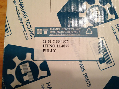 """Then, they ship the pulley along with the kit that is for:  BMW E65 E66 WATER PUMP ALUMINUM PULLEY GASKET FAN CLUTCH 745i Li 760i 760Li KIT"""".  This interchange part number is NOT for a 760Li, and the pulley was 1/2"""" too small. I did not use it."""