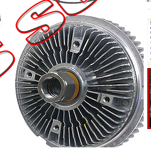 Look closely at the picture of the back of the fan clutch. This is important. This is a photgraph of a real, direct replacement part that will fit a 760Li. It looks just like the part I pulled off my 760Li.