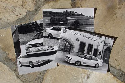 Audi Press Kit September 1985, Model Year 1986. 4 photos of Audi Quattro.