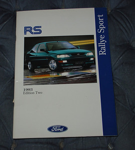 Ford Escort RS Cosworth brochure, October 1993 Edition 2, English, RHD version, 33 pages.