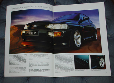 RS Cosworth Katalog, Mai 1994, 11 pages, interior view in German