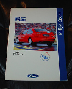 March 1994 Edition One, Rally Sport Brochure, 25 pages. $25.00 USD