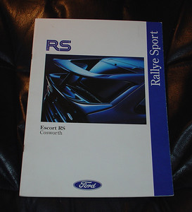 June 1992 Rallye Sport Brochure, 11 pages. English. $25.00 USD