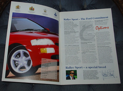 Ford Escort RS Cosworth brochure, Edition 2 Oct 1993,  interior view pages 0 & 2, English