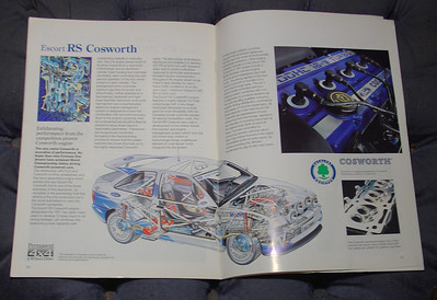 Ford Escort RS Cosworth brochure, Oct. 1993 Edition 2, interior view pages 31 & 32