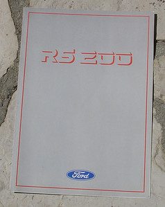 Ford RS 200 large fold out brochure