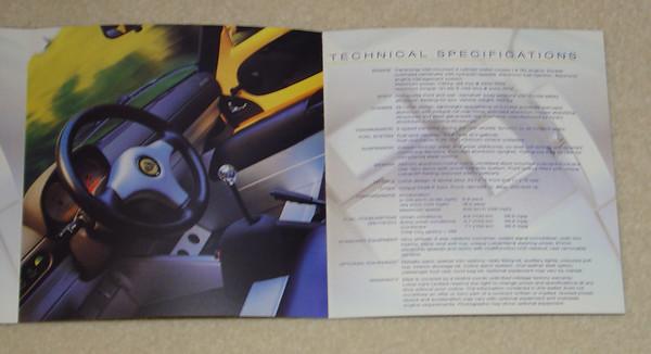 Elise Series 1 brochure. 2nd opening.