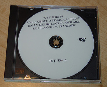 """Peugeot Official video:  205 Turbo 16 promo w/ Bernard Girous. """"Don't forget your seat belt."""" Sound track Requiem.  Une Journee d'essais au circuit Mas du Clos de Pierre Bardinon. With many of the people involved in teh program. 1984 Rallye des Mille Lacs (Anglais) English w/ Jean Todt, Marku Alen, Ari Vatenen, Michelle Mouton, etc.  1984 Rallye San Remo (Francais)  33 minutes"""