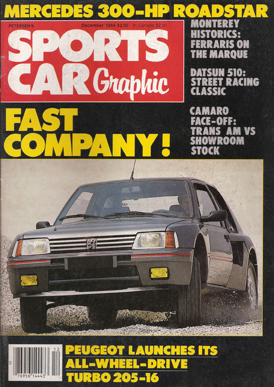 Sports Car Graphic December 1984. Sun Speed cover story