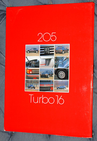 1984 Peugeot 20 Turbo 16 Press Kit. Sold Out. Only one cover jacket left.