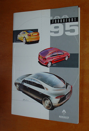 """Renault Official """"Press Pack"""" from 1995 Frankfurt Motor Show. English"""