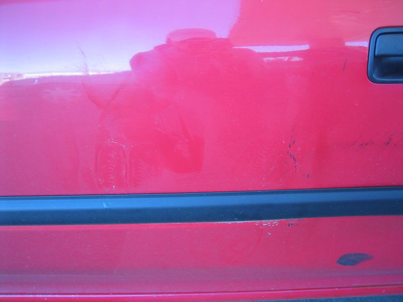 Footprints on driver side door