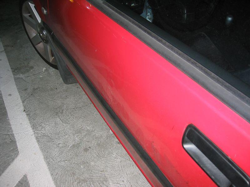 Driver side door dent 2
