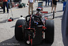 """The back section of Langley's unique dragster. Langley not only campaigned a flamboyant """"statement"""" design on his race car, he backed it up with the racing skills of the champion he was. His unmistakable beard and great personality were even more reasons why he was endeared to the public eye."""