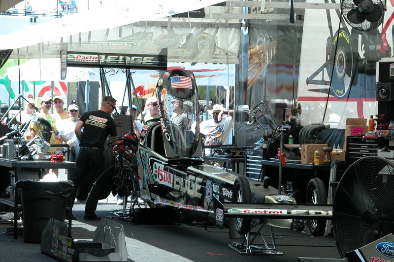 I hate the look of Brittany's dragster, it always looks bent.