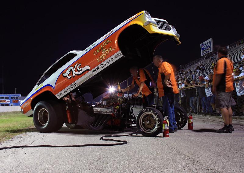 CKC Racing's funny car at final cackle. May 5, 2012.