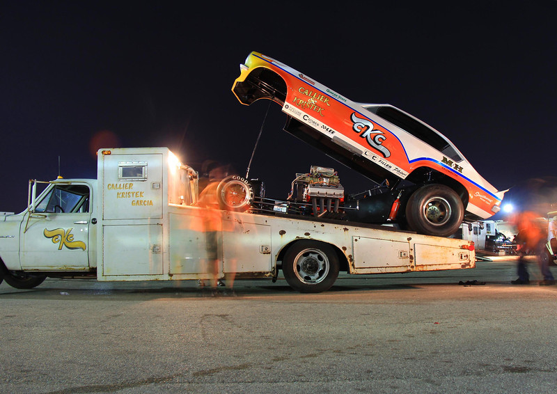 CKC funny car getting loaded up after the event. San Antonio, May 5, 2012.