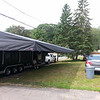 The awning is actually wider than the trailer.