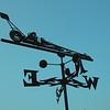Laser cut weathervane in the memorial garden.