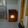 The new pellet stove kept the shop warm during the winter months.