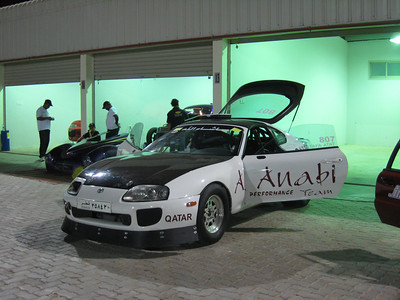 The stock suspension Toyota Supra of Khalid Althani's Al Anabi Qatar Racing team.