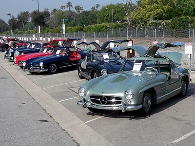 A gathering of Mercedes 300 SL Gullwings