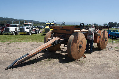 Among the machines on display were various farm implements.  This is where the trend toward larger wheels could end up.