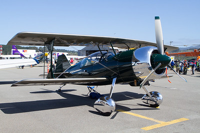 Aircraft from many decades were on display.