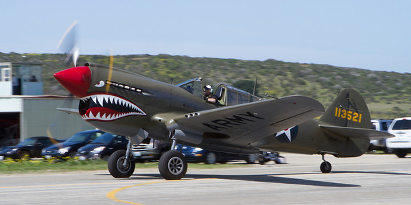 This P-40 was a surprise arrival.