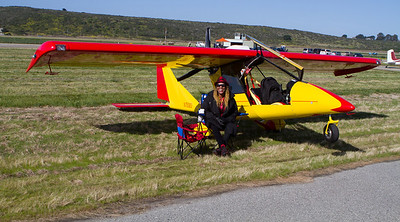 A kit plane was among the aircraft flown in.
