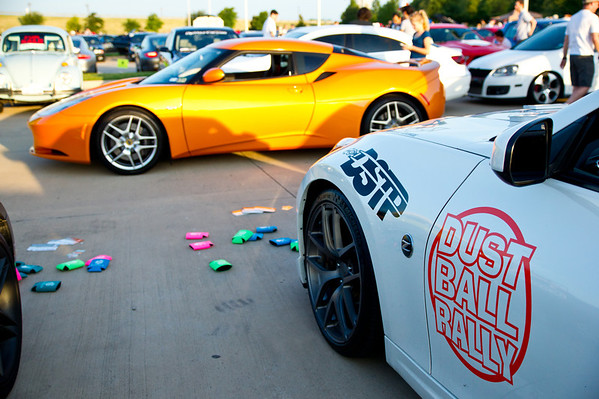 Dallas Cars & Coffee the weekend prior to the rally launch at Autosource Dallas