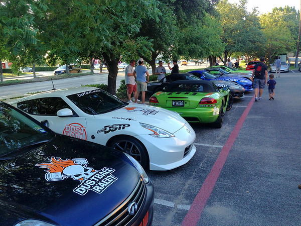 #dustballrally car show & drivers meeting