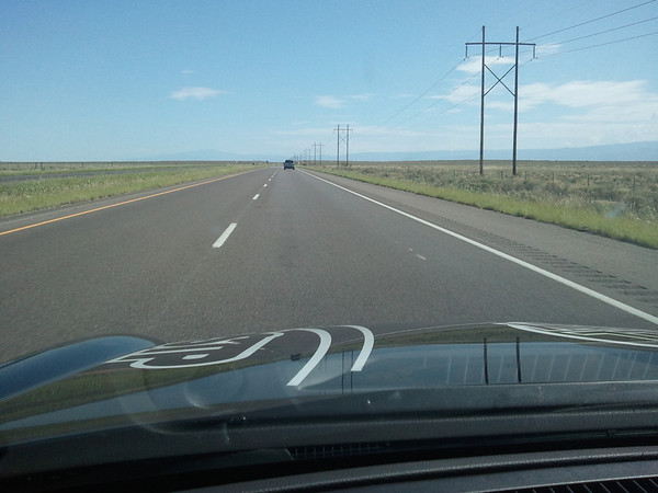 cell phone photo:  Needless to say, this was a fun road when no traffic was around.