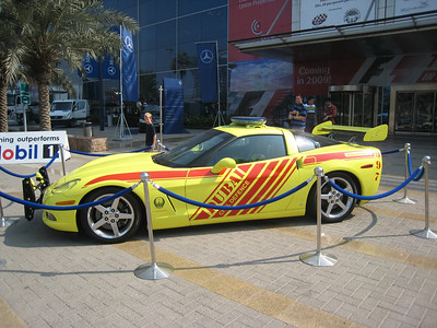 Only in Dubai would the Fire Chief drive a Corvette.