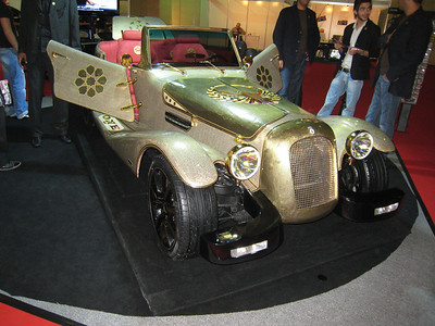 The Golden One.  Only 10 have been made, contain 10kg of 18 carat gold, 150 pieces of genuine diamond, Persian carpets as the car mats.  Cost to you merely USD1,000,000.  (You'd think they could afford to proof read their brochure which had a spelling mistake in the second line. Pedantic I know but there you are.......)