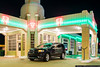 """Texas - Restored Tower Conoco Station in Shamrock on the historic Route 66, used as a model for the Disney movie """"Cars"""""""