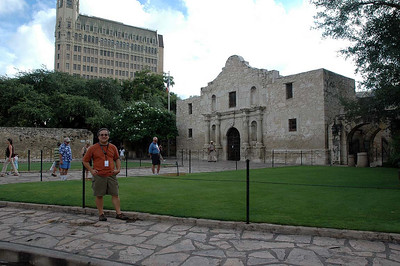 Might as well play tourist. We'll be on the road soon enough. The start location was a half block away from the Alamo. We didn't know that ahead of time. The instructions just brought us here.