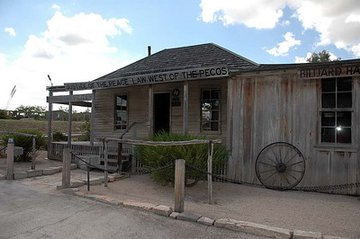 "A short distance off the main road is historic Langtry, along the Pecos River. This is where Judge Roy Bean lived and held ""court."" Bean called himself ""The Law West of the Pecos."" There were numerous displays of the colorful history, with several answers to buried in the tourist information. This stop was an oasis, compared to the rest of US-90."