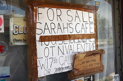 We needed a phone number for Sarah's Cafe, but which one? We ended up going back to the billboard near the entry to into Ft Stockton. Answers we developed to the questions now tell us to exit I-10 and head north on US-67.