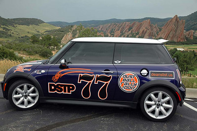 We are Team MINI Dust Mites! The setting is just south of the Denver metro area, a couple of weeks before the rally.