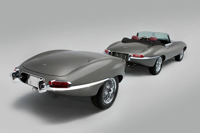 E-type Jaguar and matching trailer