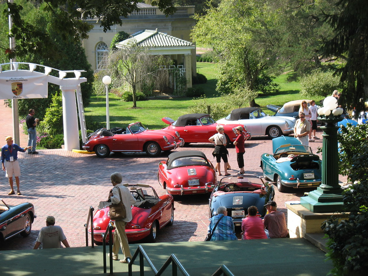 The car show. Our car is the closest to the white portal.