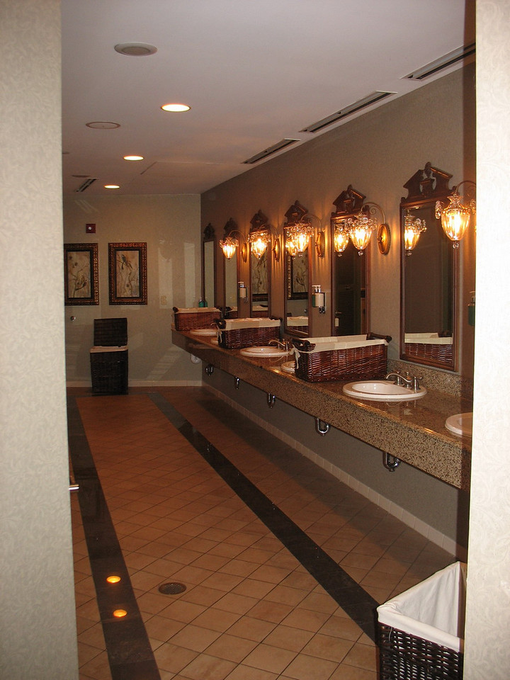 One of two opulent ladies' rooms on the ground floor.